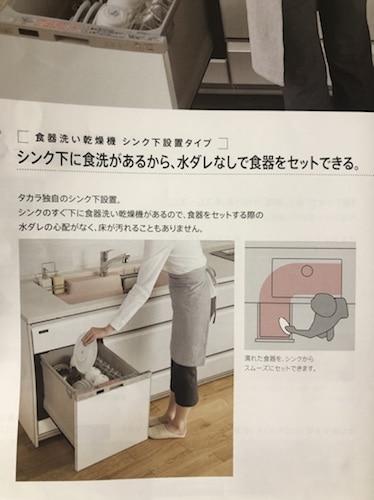 タカラ食洗機の位置